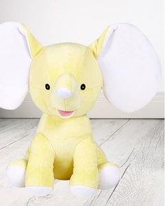 Personalised Teddy Bear - Dumble Elephant Yellow Cubbie - 30cm