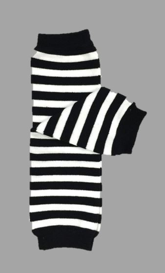 Leg Warmer BLACK & WHITE STRIPED