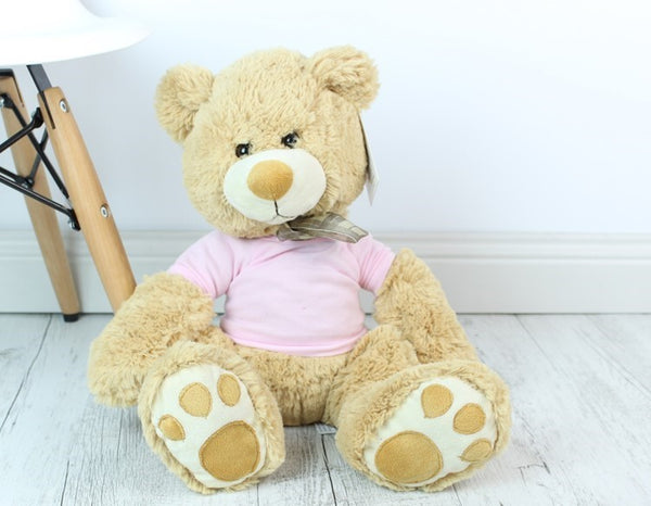 Personalised Teddy -Mojo Cream w/ T-Shirt - 45cm