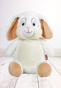 Personalised Teddy Bear - White Bunny Cubbie - 30cm