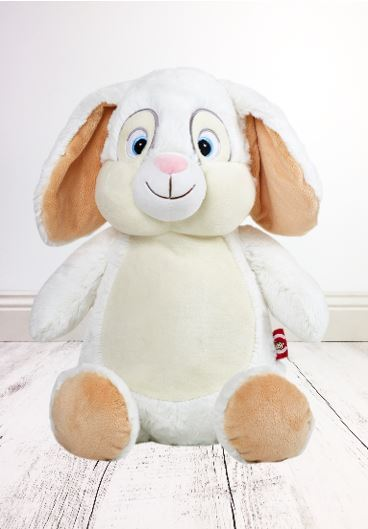 Personalised Teddy Bear - EASTER White Bunny Cubbies - Teddie & Lane