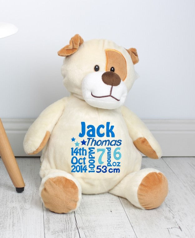 Personalised Teddy Bear - Pauley Puppy Dog Embroider Bear