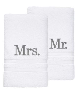 Personalised Towel - Mr & Mrs Bath Sheet Towels