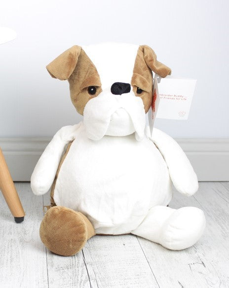 Personalised Teddy Bear - Buster Bulldog Embroider Bear