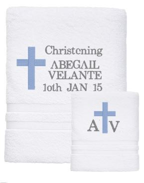 Personalised Towel - CHRISTENING SET