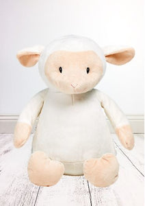 Personalised Teddy Bear - Lamb Cubbie - 40cm