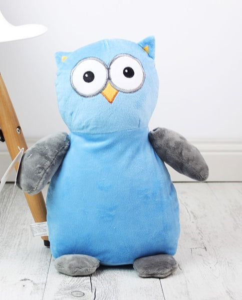 Personalised Teddy Bear -Hooty Lou OWL Blue/Grey Cubbie