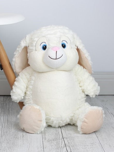 Personalised Teddy Bear - EASTER Egg White Bunny Cubbie - Teddie & Lane