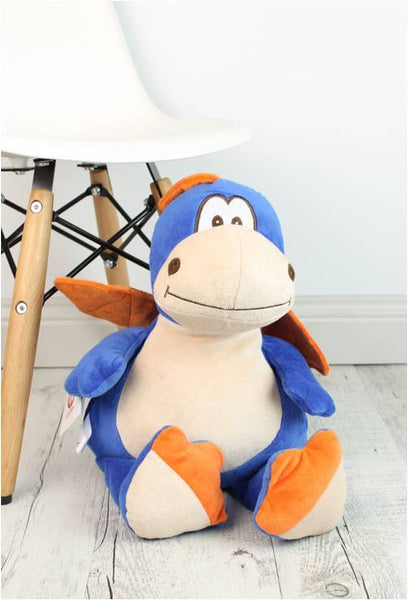 Personalised Teddy Bear - Dragon Blue Cubbie - 40cm