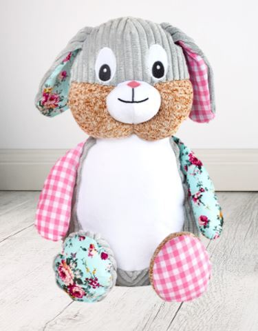 Personalised Teddy Bear - EASTER Clovis Bunny Cubbie Pink -40cm