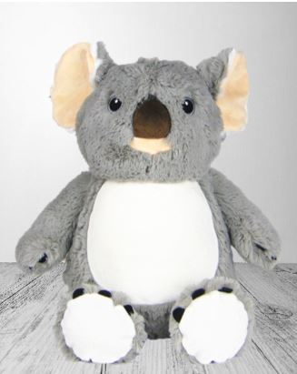 Personalised Teddy Bear - Koala Cubbie - 40cm