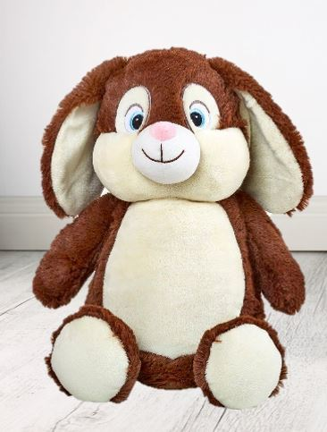 Teddy Bear - EASTER Cross Blue Brown Munschkin Cubbie