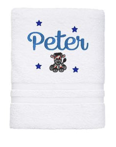 Personalised Towel - Dog Bath Towel White