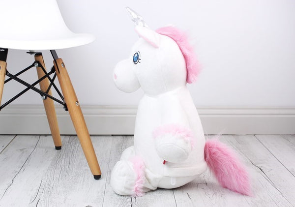 Personalised Teddy Bear - Unicorn White Birth