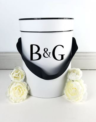 Large Gift Box Black Ribbon - Teddie & Lane