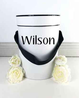 Small Gift Box Black Ribbon - Teddie & Lane