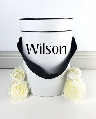 Large Gift Box Black Ribbon