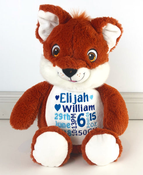 Personalised Teddy Bear - Fox did it - Teddie & Lane