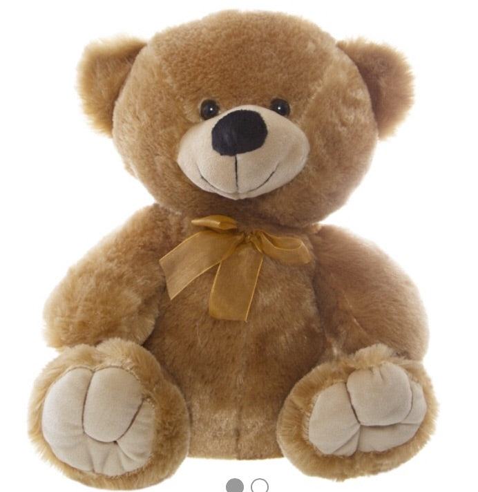Personalised Teddie -Alvin Relay Teddy Bear Brown -  w/Knits 40cm - Teddie & Lane