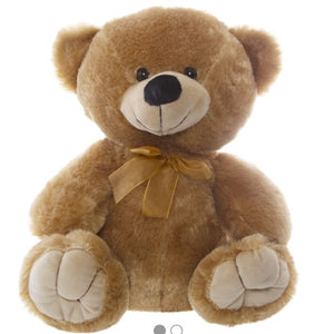 Personalised Teddie -Alvin Relay Teddy Bear Brown -  w/Knits 40cm