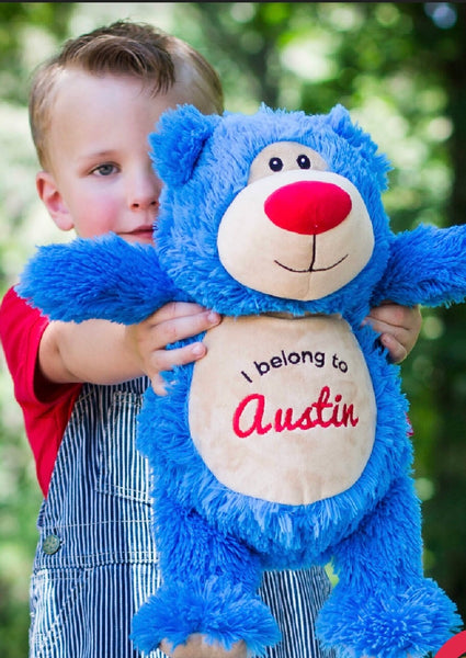 Bright Blue Cubbyford Bear - Teddie & Lane