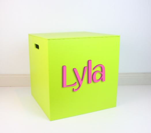 LIME GREEN Mid Box 35cm