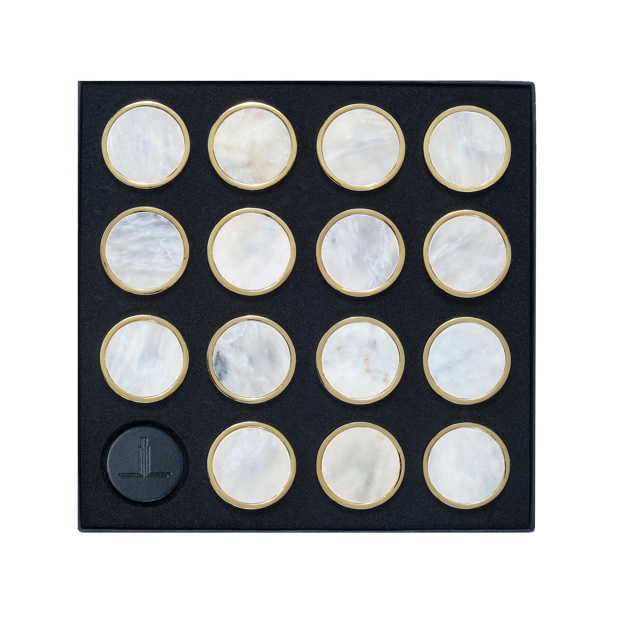 White Afghan Marble Playing Pieces