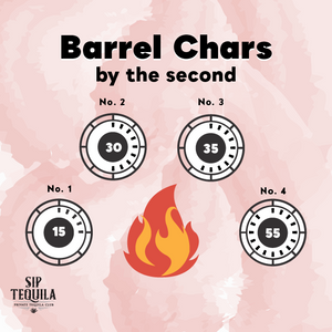 Tequila Aging Barrel Chars