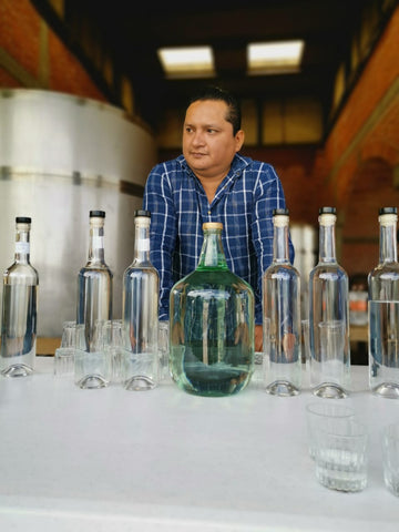 making mezcal mezcalero