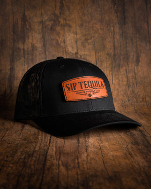 Sip Tequila Leather Patch Snapback