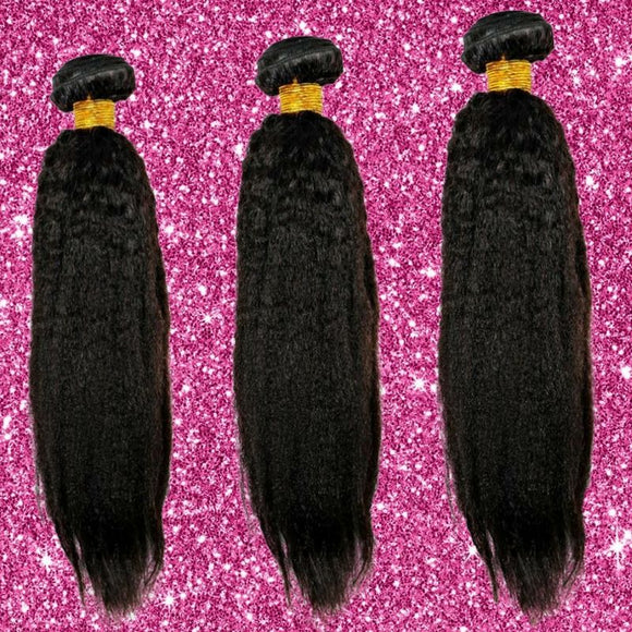 Brazilian Kinky Straight - 3 Bundle Deal