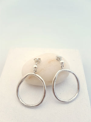 big hoops in sterling silver, handmade - statement hoops for her