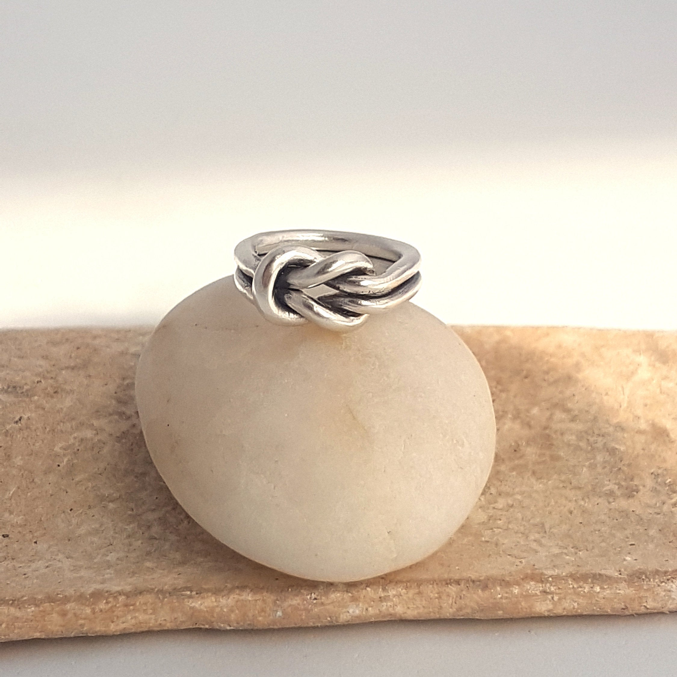 Chunky Sailor Knot Ring  in Sterling Silver -  Handcrafted Infinity Ring for a modern woman