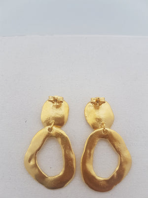 large contemporary earrings gold plated - modern statement earrings for her