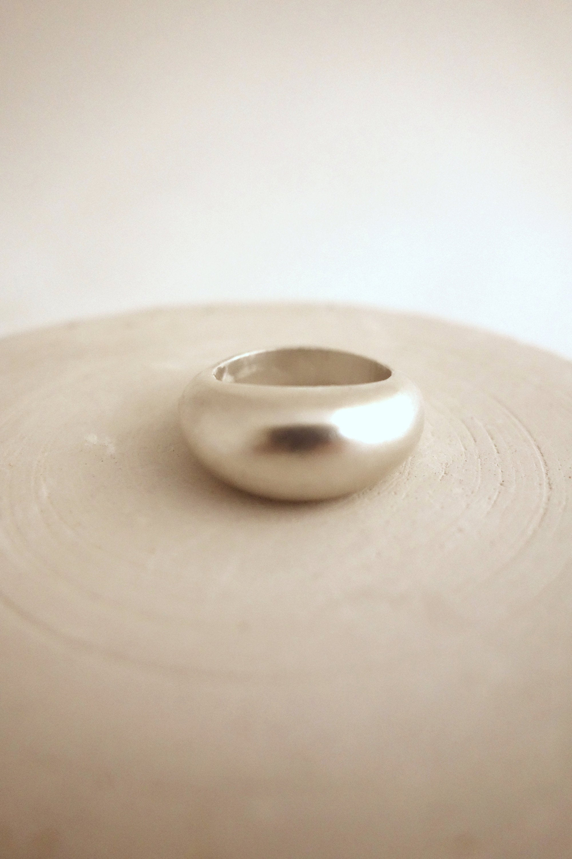 chunky dome ring, bombe ring made in sterling silver