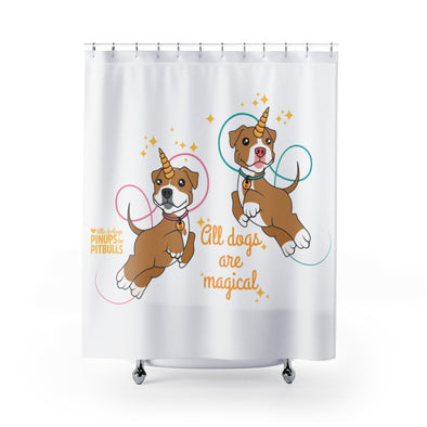 Shower Curtains | All Dogs Are Magical (Piticorn)