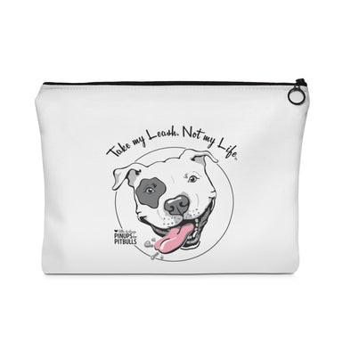 Accessory | Take My Leash Dog Face | Zip Pouch