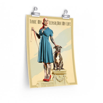 Posters | Take My Leash, Not My Life | 2018 Pinups for Pitbulls