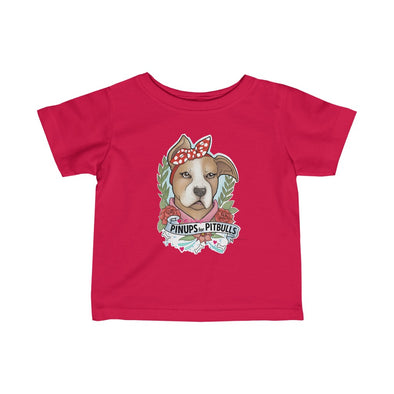 Pin-Up Pup by Creating Jen Designs | Infant Fine Jersey Tee