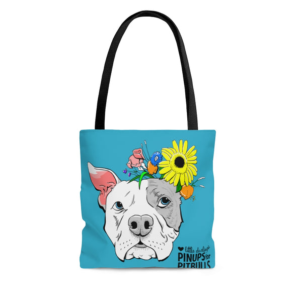 Notrebrut 's Flowered Pittie Design | AOP Tote Bag