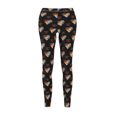 Women's Cut & Sew Casual Leggings | Love Knows No Breed | Pittie Pile Brindle