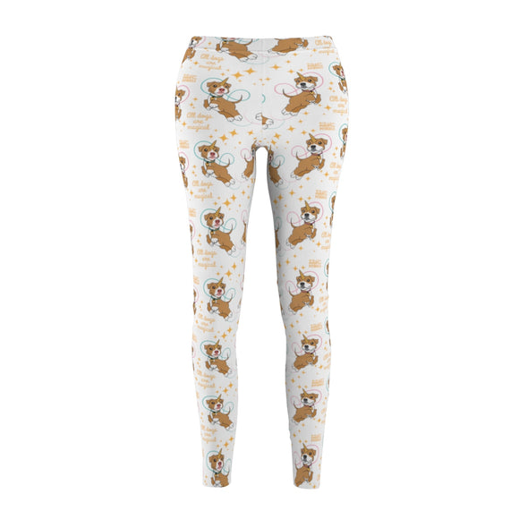Women's Cut & Sew Casual Leggings | All Dogs Are Magical Piticorn