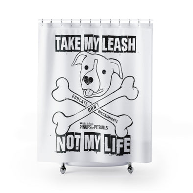 Shower Curtains | Educate Don't Discriminate (BAX TO THE BONE)