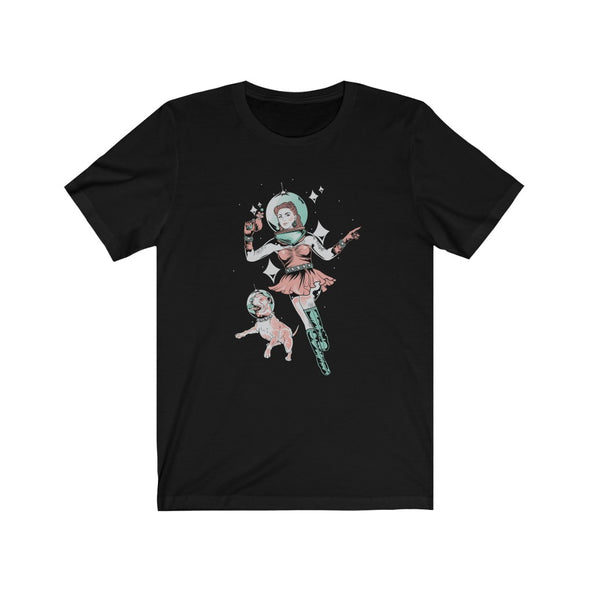 Unisex | Space Dog Fly Away | T Shirt