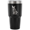 30 Ounce Tumbler | Take My Leash, Not My Life - Dog Silhouette