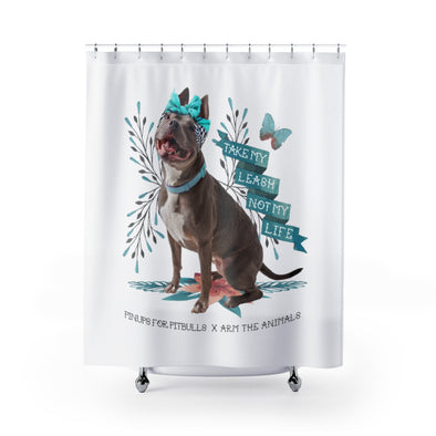 Shower Curtains | Arm The Animals x Pinups For Pitbulls