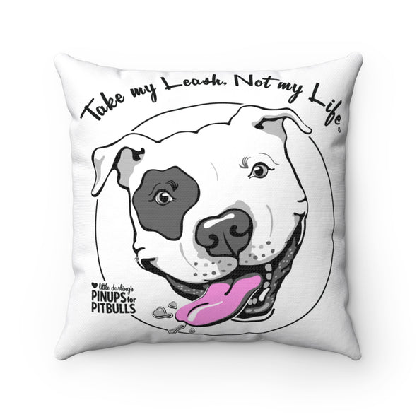 Square Pillow | Take My Leash (Dog Face)