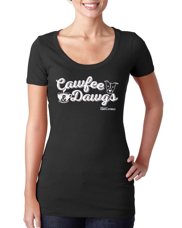 Women's | Cawfee & Dawgs | Scoop Tee