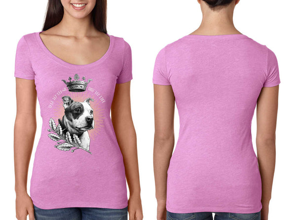 Pit Bull with Crown Ambassador Ladies Tee