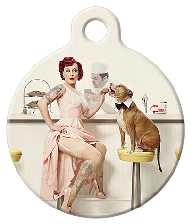 DOG TAG: Diner Dog Tag featuring Little Darling Baxter Bean and Jeffington